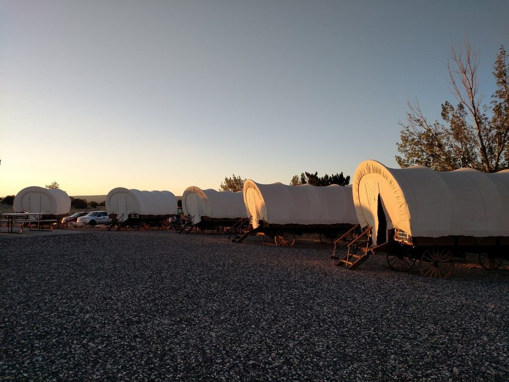 image of covered wagons