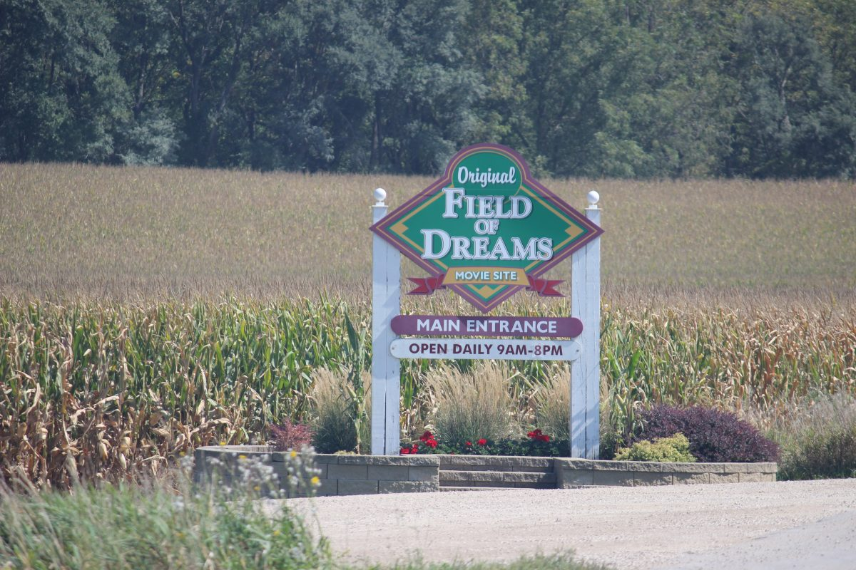 Photo of field of dreams sign