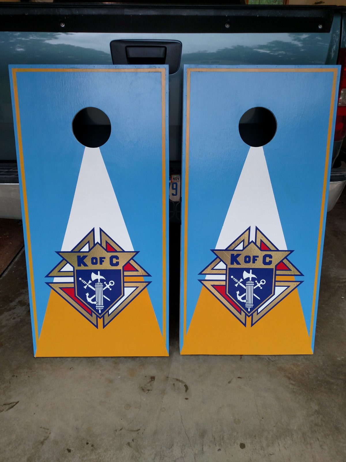 Knights of Columbus corn hole boards