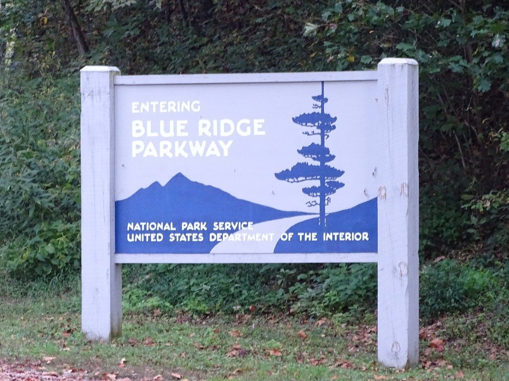 sign for blue ridge parkway
