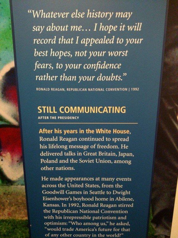 Reagan Library quote