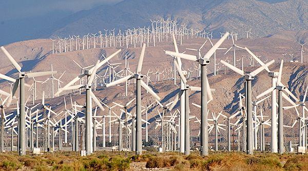 wind turbines in Palm Springs